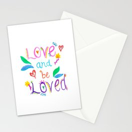 Love and be Loved Stationery Cards