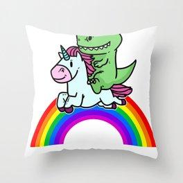 Rainbow Gift Animal Unicorn Funny Sweet Throw Pillow