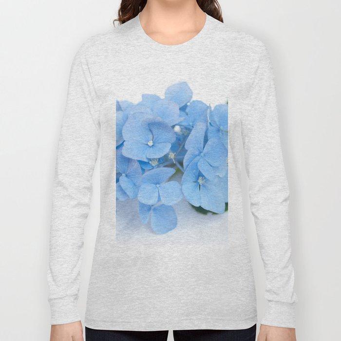Blue Hydrangeas #1 #decor #art #society6 Long Sleeve T-shirt