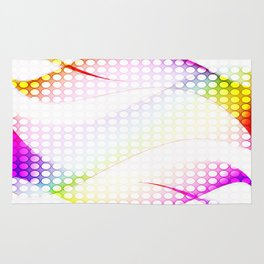 abstract colorful tamplate Rug