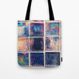 Iridescent Squares Tote Bag