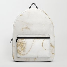 Elegant gold and white marble image Backpack