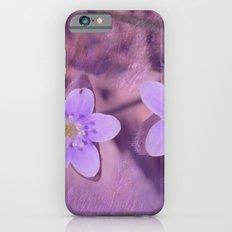 Purple Spring Flowers Slim Case iPhone 6s