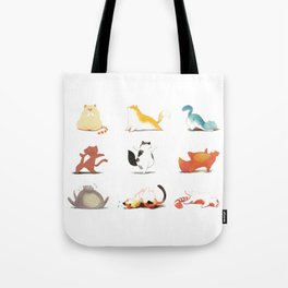 Cats and Yoga Tote Bag