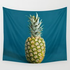 Retro pineapple Wall Tapestry