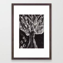 """Haunted Tree"" Etching/Printmaking Framed Art Print"