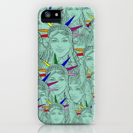Gay Madonna as the Statue of Liberty! Cool Gay Artwork iPhone Case