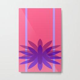 Floretta's Not Fond of Pink Metal Print