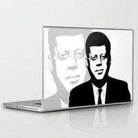 jfk Laptop & iPad Skins featuring JFK by b & c