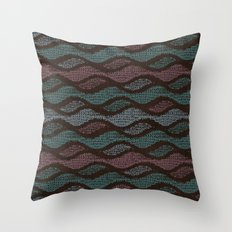 WOOL WAVES Throw Pillow