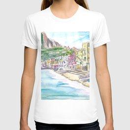Marina Grande Capri quiet Morning With Boats And Waterfront T-shirt