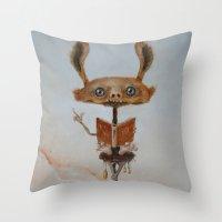 teacher Throw Pillows featuring the teacher  by Ed Schaap