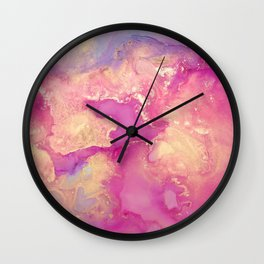 Alcohol Ink - Nebula 2 Wall Clock
