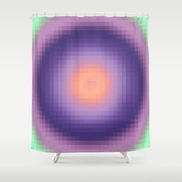 Ripple I Pixelated Shower Curtain