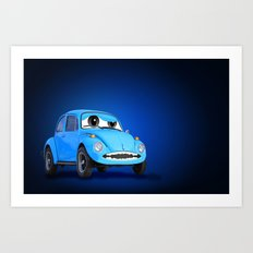Blue Car Art Print