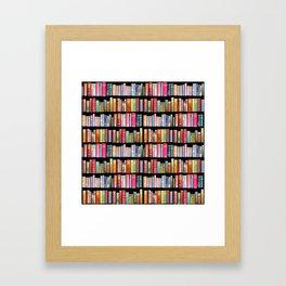 Vintage Book Library for Bibliophile Framed Art Print