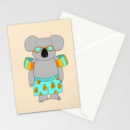beach koala Stationery Cards