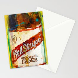 Red Stripe Jamaican Style Lager Beer Stationery Cards