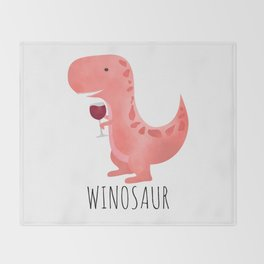 Winosaur Throw Blanket