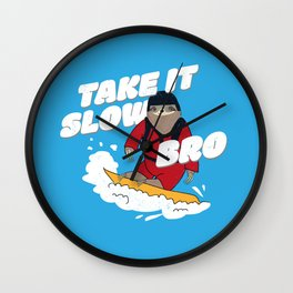 Take it Slow Bro - Funny Snowboarding Sloth Wall Clock