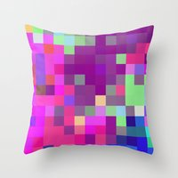 pixel art Throw Pillows featuring Pixel by FABIAN•SMITH