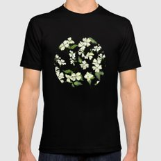 April blooms(Dogwoods_blue) Mens Fitted Tee MEDIUM Black