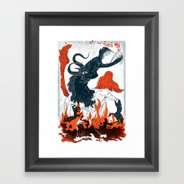 A Jersey Devil Haunting Framed Art Print