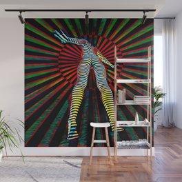 9960s-JPC Feminine Power Up Pop Art Abstract Striped Nude Figure Wall Mural