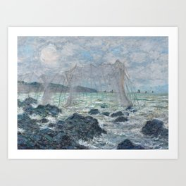 Fishing Nets at Pourville by Claude Monet Art Print