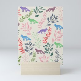 Watercolor Floral & Fox III Mini Art Print
