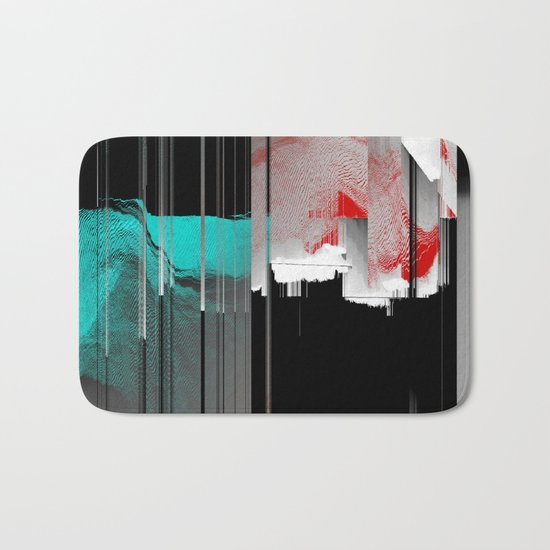 Minty Fresh Glitch Bath Mat