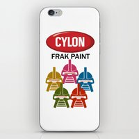 battlestar iPhone & iPod Skins featuring Cylon Frak Paint by Don Calamari