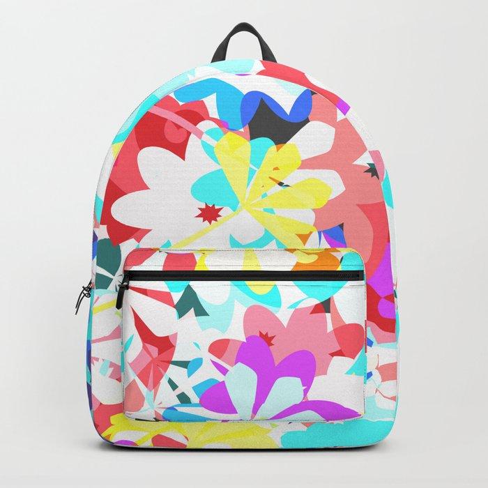 Joyful floral garden Backpack
