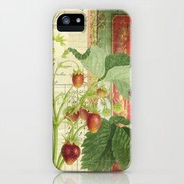 Fraises à la Crème iPhone Case