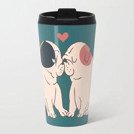 English Bulldog Kisses Travel Mug