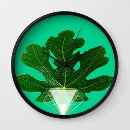 Fig Leaf Diamond Christmas Tree Wall Clock