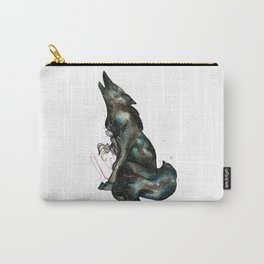 INTO THE NIGHT I - Girl and Wolf Carry-All Pouch