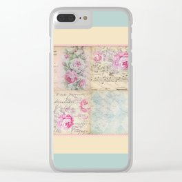 Shabby Chic 2 Clear iPhone Case