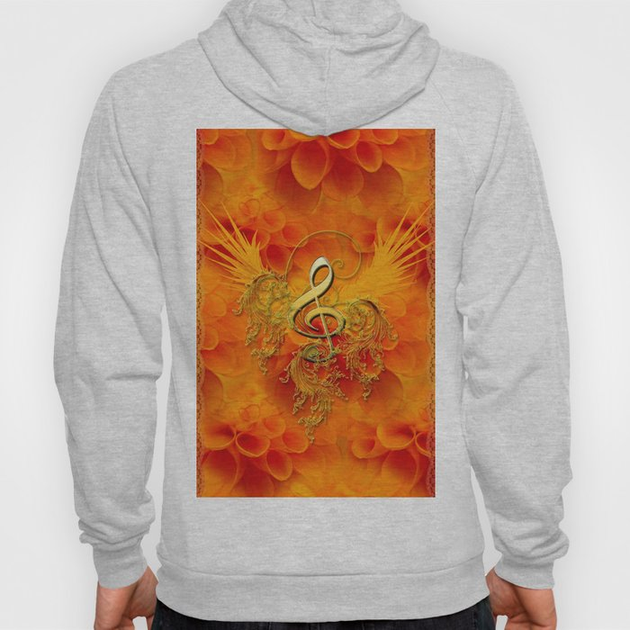 Clef with flowers Hoody