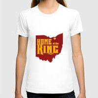 lebron T-shirts featuring Home of the King (Yellow) by Denise Zavagno