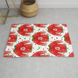 Ugly Christmas Sweater Pattern Rug