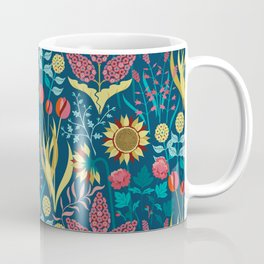 Florid Dreams Blue Coffee Mug