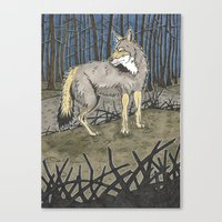 coyote Canvas Prints featuring Coyote by Lucan Joshua Jackson