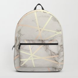 Stylish marble & copper rose gold Backpack