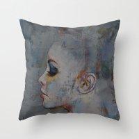 ballerina Throw Pillows featuring Ballerina by Michael Creese