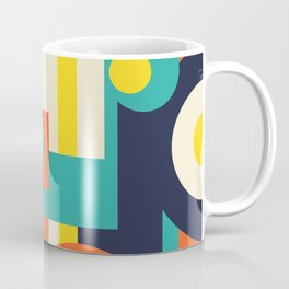 Funky Geometry (Modern Vibrant Color Palette) Coffee Mug