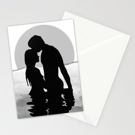 Lovers Black and White Stationery Cards