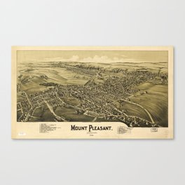 Aerial View of Mount Pleasant, Pennsylvania (1900) Canvas Print