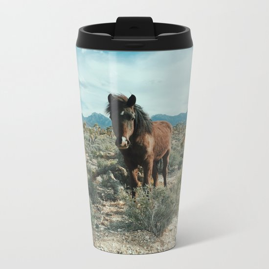 Nevada Desert Horse Metal Travel Mug