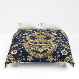 Art Nouveau Floral Pattern Comforters